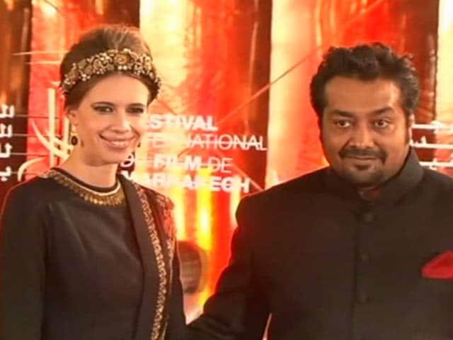 Video : Anurag, Kalki, Huma's movie date
