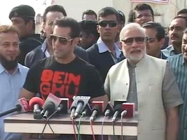 Video : Salman flies kites with Modi, praises him, but no clear endorsement