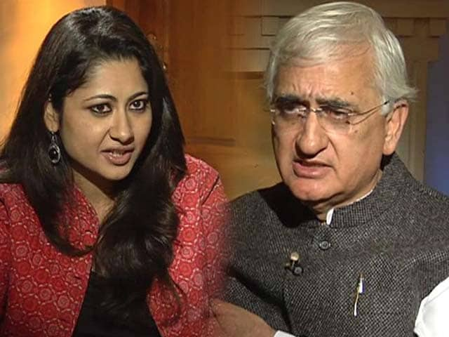 Video : Mistake to make RK Singh Home Secretary: Salman Khurshid to NDTV