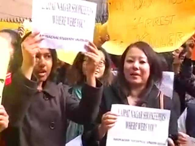 Video : Arunachal student's death: protests at market where Nido was allegedly thrashed