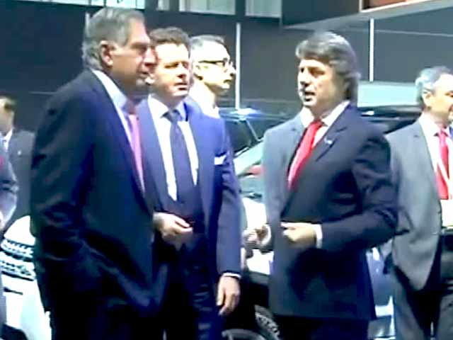 Ratan Tata at Auto Expo 2014