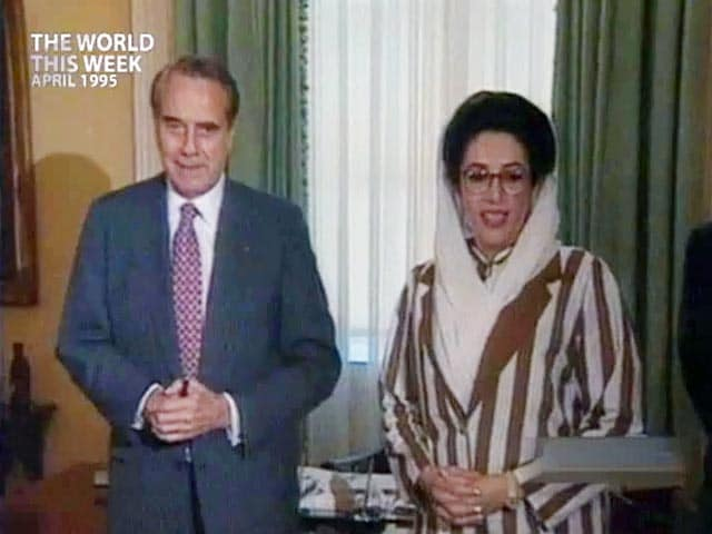 Video : The World This Week: Benazir Bhutto's US visit gets mixed reviews (Aired: April 1995)