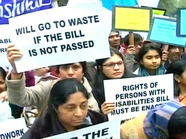 Video : Disability bill: A battle for rights