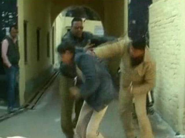 Video : Caught on camera: UP cops thrash mentally-challenged man