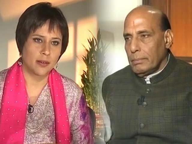 Video : Government must bring order in Parliament if it wants BJP support on Telangana: Rajnath Singh to NDTV