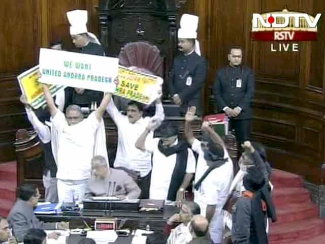 Videos : खबरों की खबर : तेलंगाना पर संसद में हंगामा