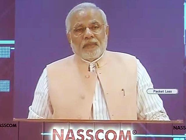 Videos : ई-गवर्नेंस समस्याओं को सुलझाने में सबसे कारगर : नैसकॉम के कार्यक्रम में नरेंद्र मोदी