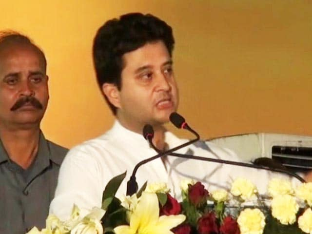 Video : Jyotiraditya Scindia's remark stalls power project in Madhya Pradesh