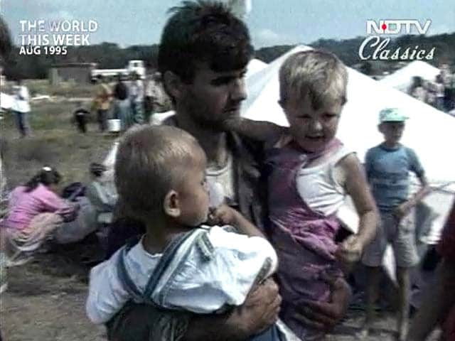 Video : The World This Week: Massive ethnic cleansing in Croatia (Aired: August 1995)