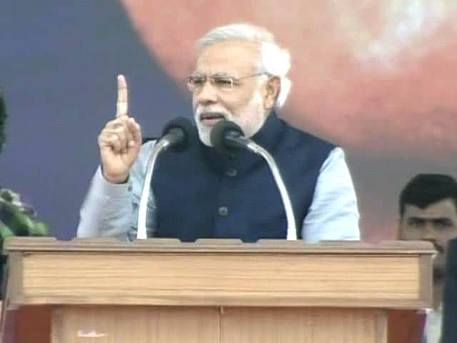 Video : 150 riots in UP in one year, none in Gujarat in last 10 years: Narendra Modi in Lucknow