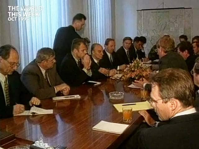 Video : The World This Week: Guns fall silent in Bosnia-Herzegovina (Aired: October 1995)