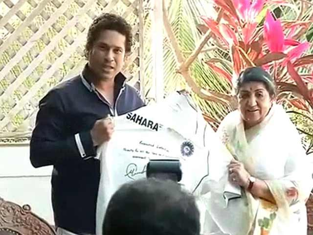 Video : When Sachin Tendulkar met Lata Mangeshkar