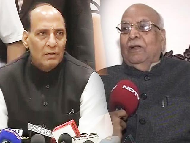 Video : BJP attempts united front amid talk of Lucknow seat for Rajnath