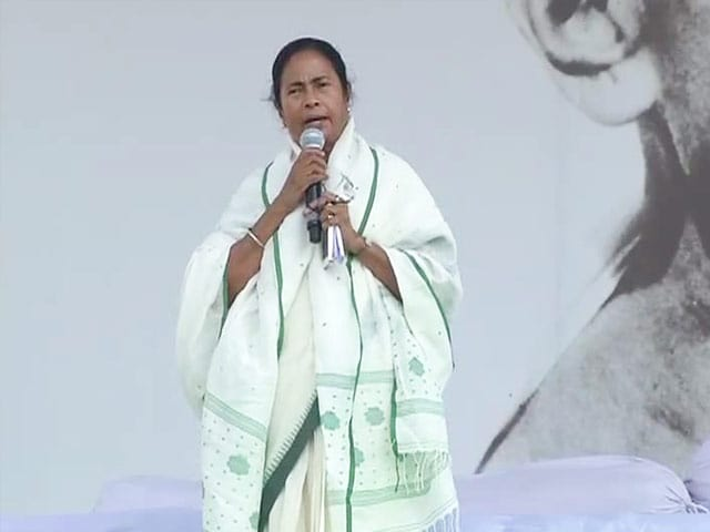 Video : Mamata Banerjee's solo act in Delhi rally as Anna Hazare stays away