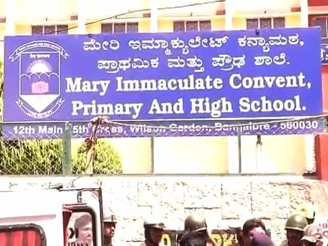 Video : Two Bangalore school girls found dead in water tank