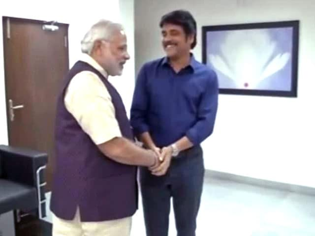 Video : South superstar Nagarjuna meets Narendra Modi