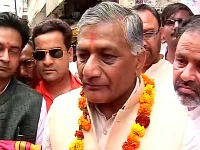 Video : On General VK Singh's campaign trail in Ghaziabad