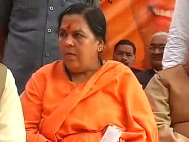 Video : Party will decide if I'll fight against Sonia Gandhi: Uma Bharti on Ramdev's comment