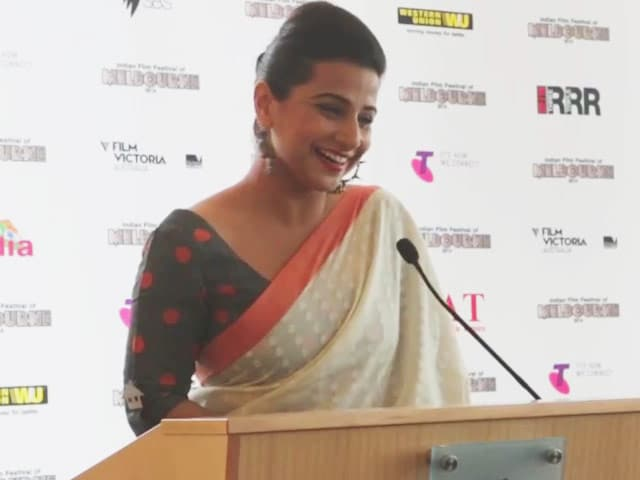Video : Vidya Balan launches Indian Film Festival of Melbourne 2014