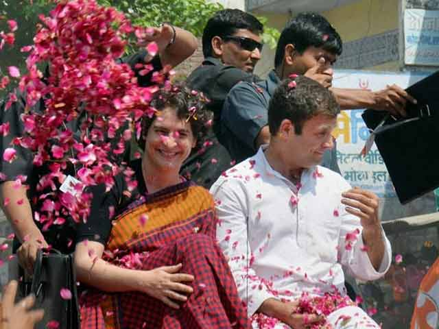 Video : Rahul to file nomination in Amethi, Priyanka joins him for roadshow