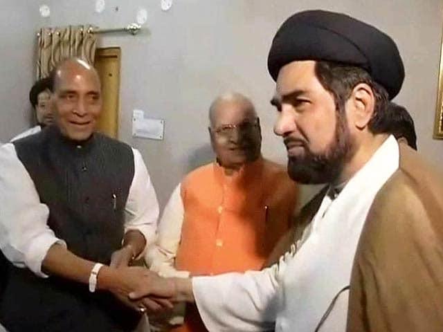 Video : BJP chief Rajnath Singh meets Muslim clerics in Lucknow