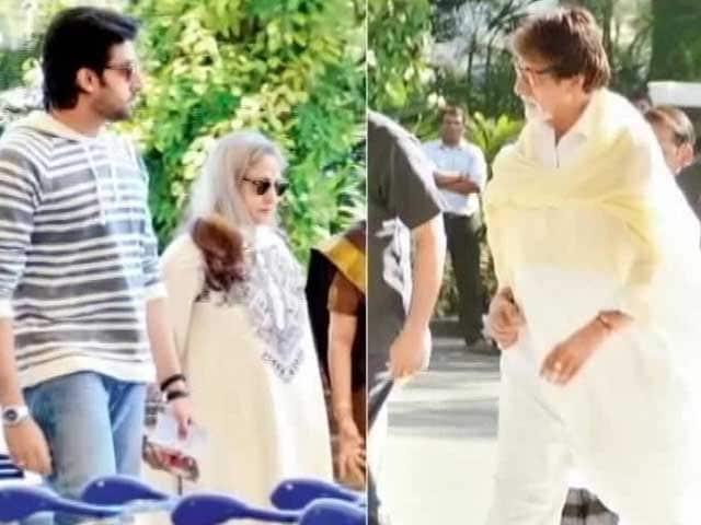 Video : Bachchans make B-line to bask in Goa sun