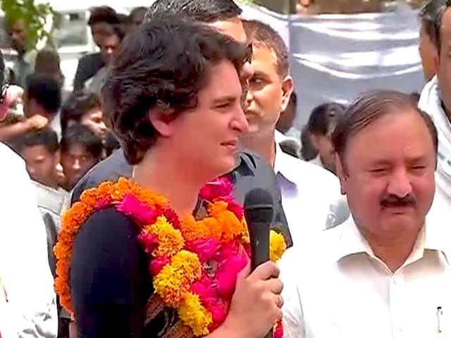 Video : My husband is being humiliated, says Priyanka to Raebareli