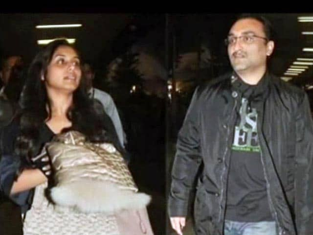 Video : Just married: Rani Mukerji, Aditya Chopra