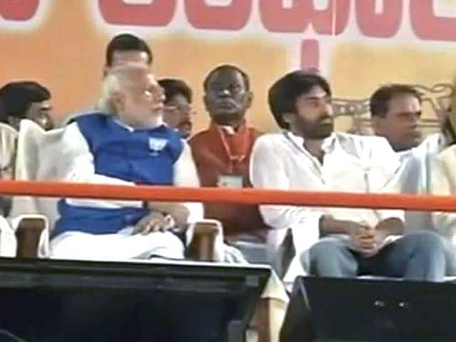 Video : In Narendra Modi's speech, Pawan Kalyan is hero, no mention of Chandrababu Naidu