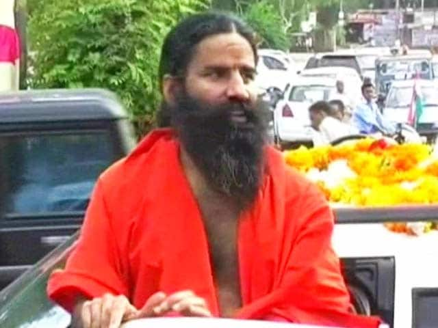 Video : Ramdev apologises for 'honeymoon' remark against Rahul Gandhi