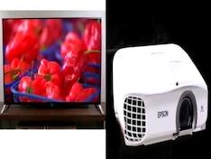Projectors vs. large screen TVs