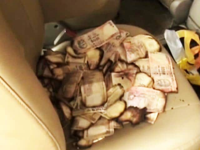 Video : Rs 2.5 Crore Cash, Allegedly Hidden in Congress Candidate's Car, Catches Fire