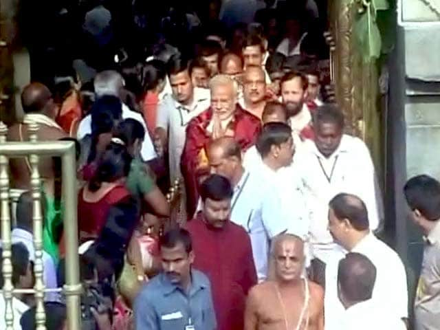 Videos : नरेंद्र मोदी ने की तिरुपति बालाजी मंदिर में पूजा