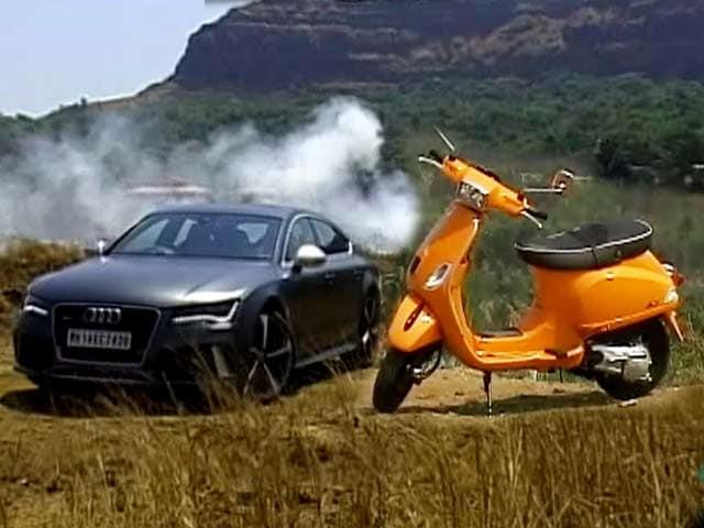 Video : Audi's Femme Fatale: RS7 & Vespa's Boyride!
