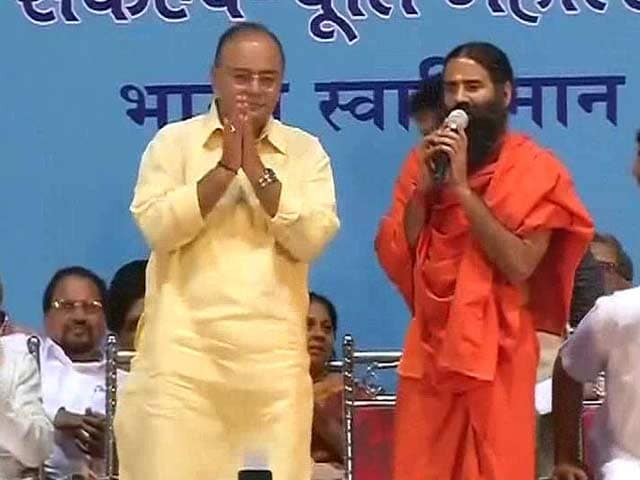 Video : Arun Jaitley Compares Ramdev to Mahatma Gandhi