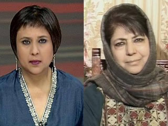 Video : Watch: Narendra Modi's Invitation to Pak PM a Good Omen - Mehbooba Mufti