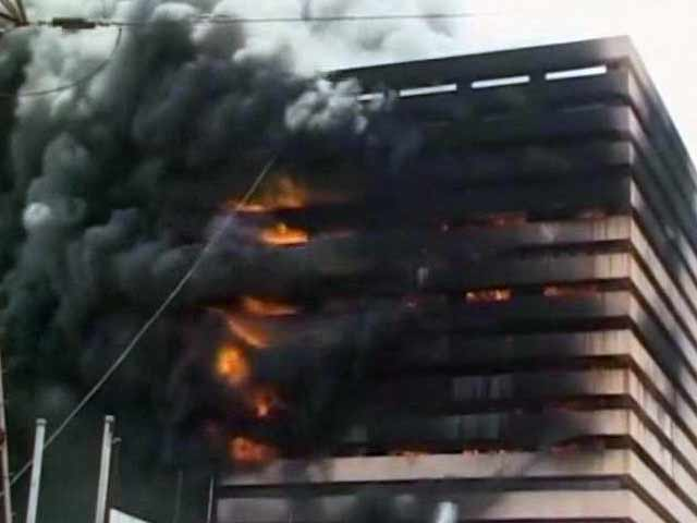 Video : Fire at 17-Storey Textile Godown in Surat, No Casualties Reported