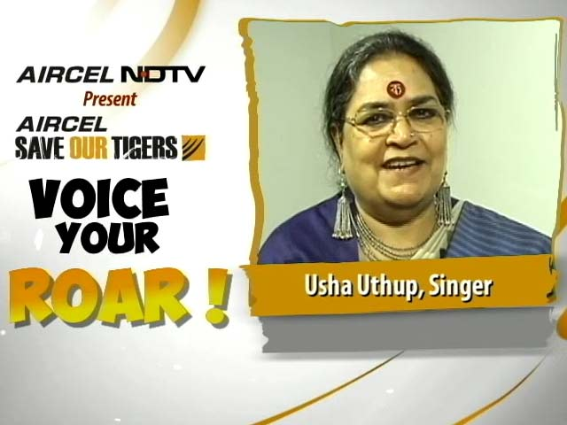Video : Usha Uthup Joins the Save Our Tigers Campaign