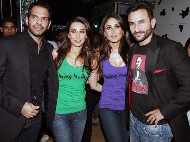 Karisma in Divorce Court, Saif by her Side