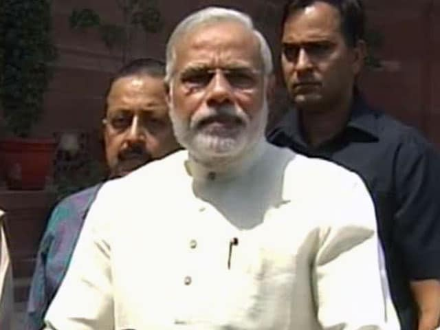 Video : We'll Work for the Hopes and Dreams of People: PM Modi Outside Parliament