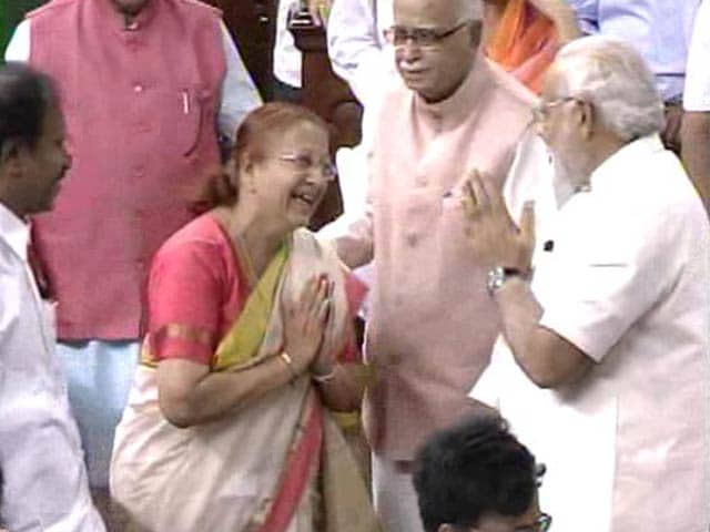Video : BJP Leader Sumitra Mahajan Elected Speaker of Lok Sabha