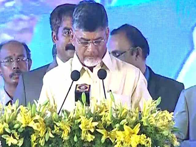 Video : N Chandrababu Naidu Sworn in as Andhra Pradesh Chief Minister