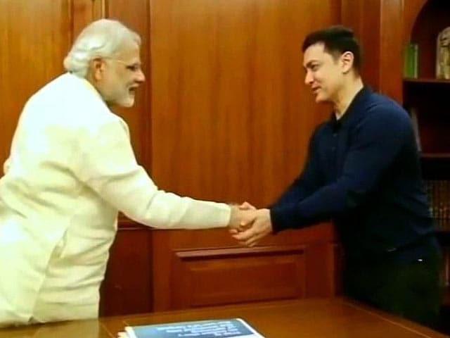 Video : When Aamir Khan Met PM Modi