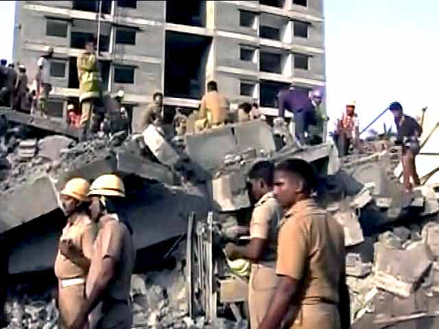 Video : Chennai Building Collapse: Tragedy Could Worsen as Jayalalithaa Says More Feared Trapped