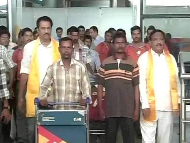 Video : 78 Indian Workers From Iraq Return to Hyderabad