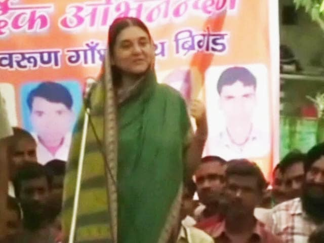 Video : Did Maneka Gandhi Just Pitch Son Varun for UP Chief Minister?