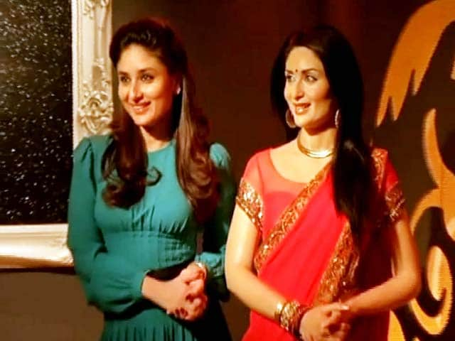 Kareena Kapoor Restyles Her Wax Figure in RA.One Sari