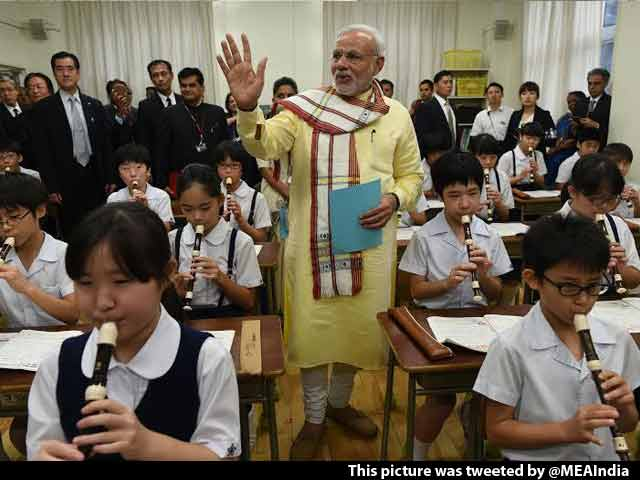 Video : At a 136-Year-Old School in Tokyo, PM Narendra Modi the 'Oldest Student'