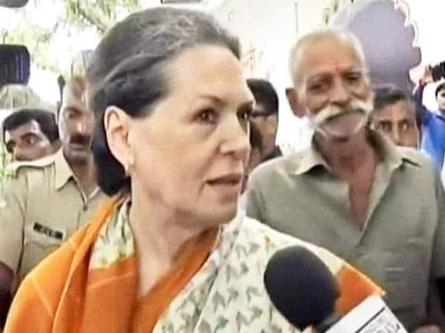 Video : Sonia Gandhi Attacks Narendra Modi's '100-Day Government' on Price Rise