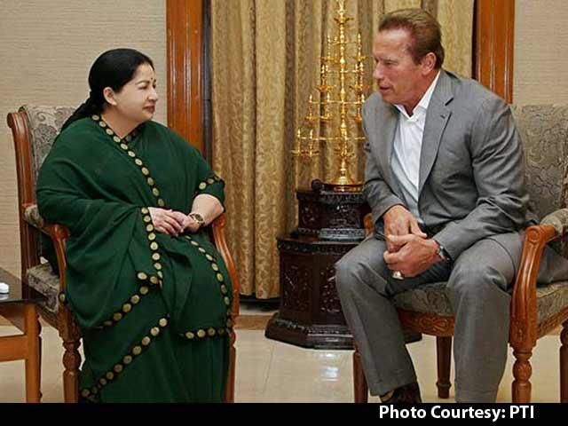 Video : Arnold Schwarzenegger Meets Jayalalithaa in Chennai